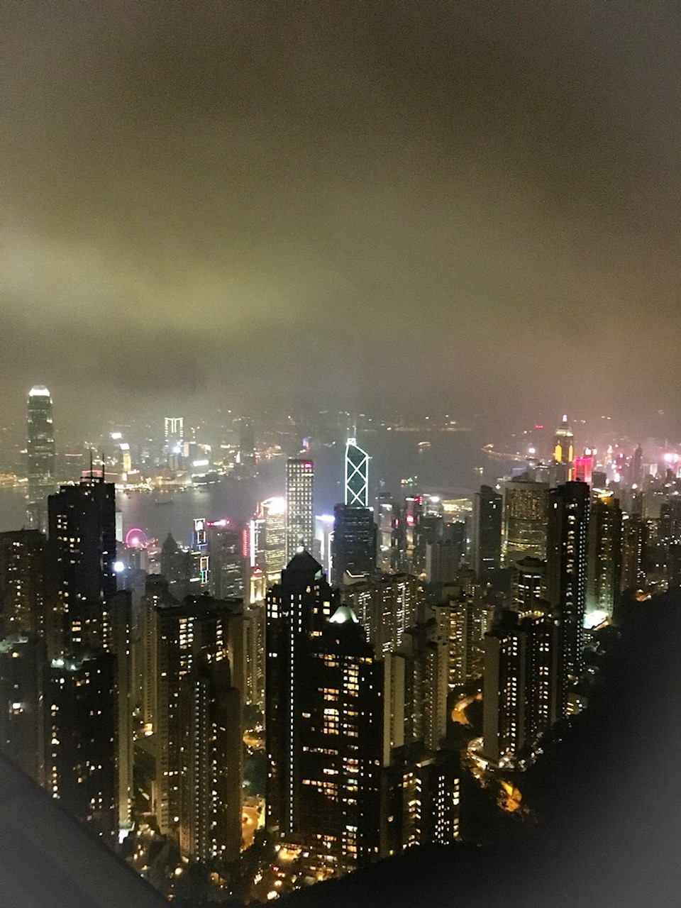 the view from victoria peak in hong kong