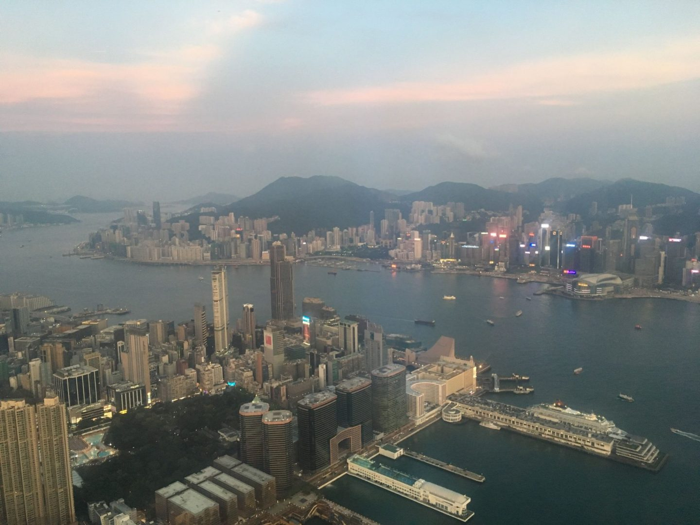 view from Ozone Bar in hong kong