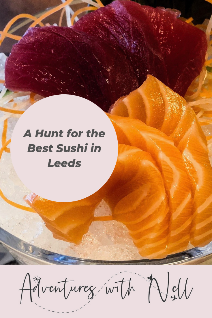 Pinterest Graphic: a hunt for the best sushi in Leeds