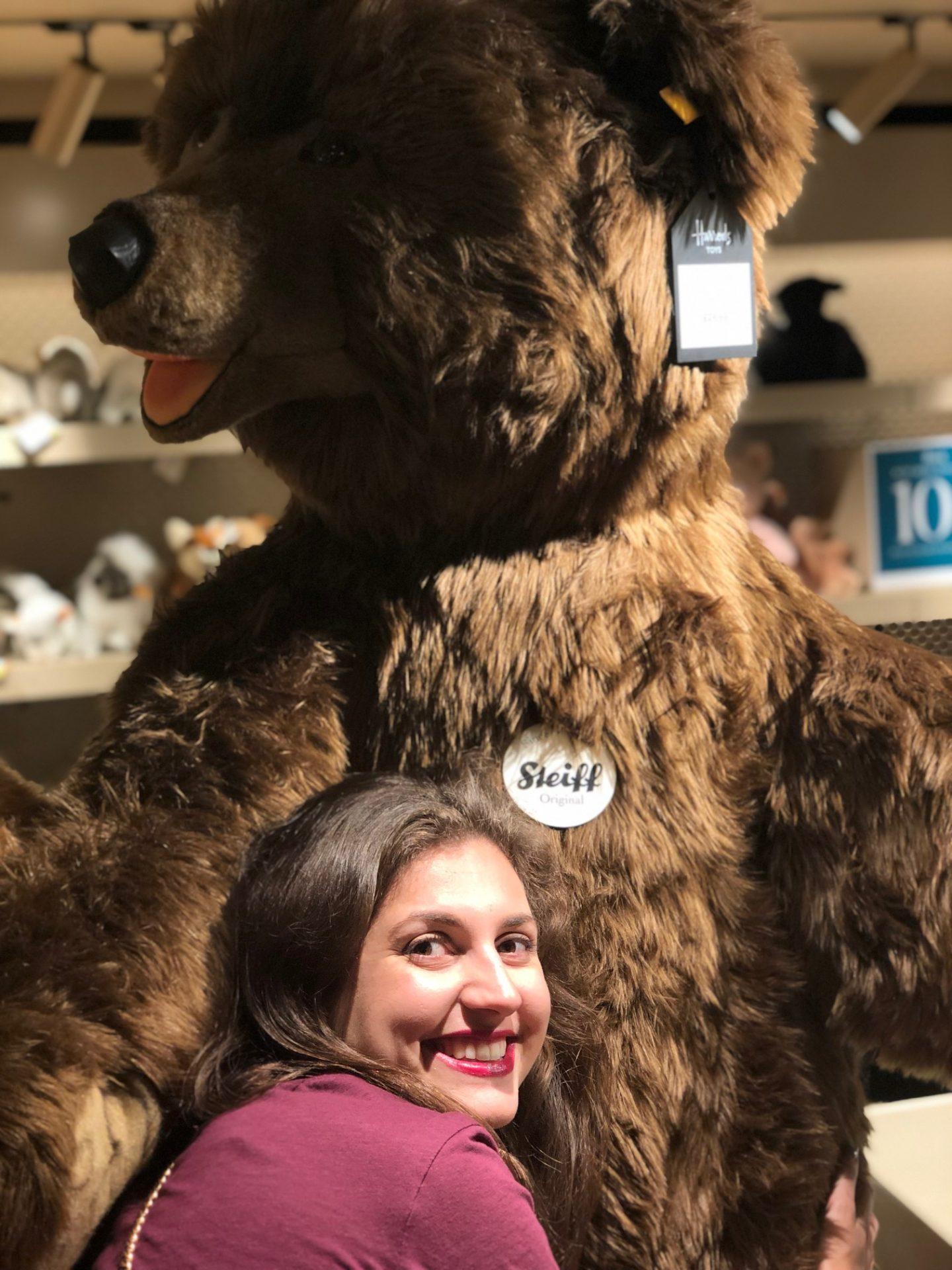 Harrods bear - day out in London