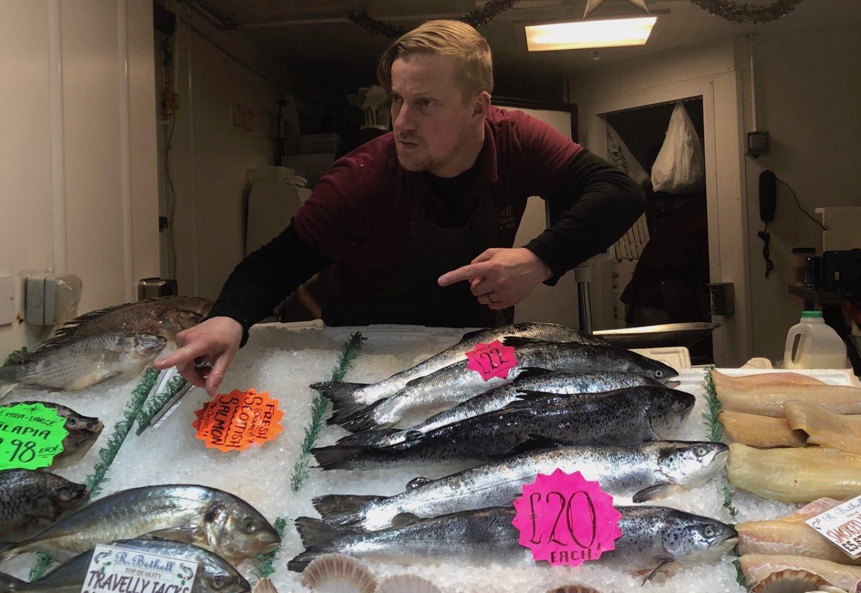 My favourite fishmonger at leeds kirkgate market