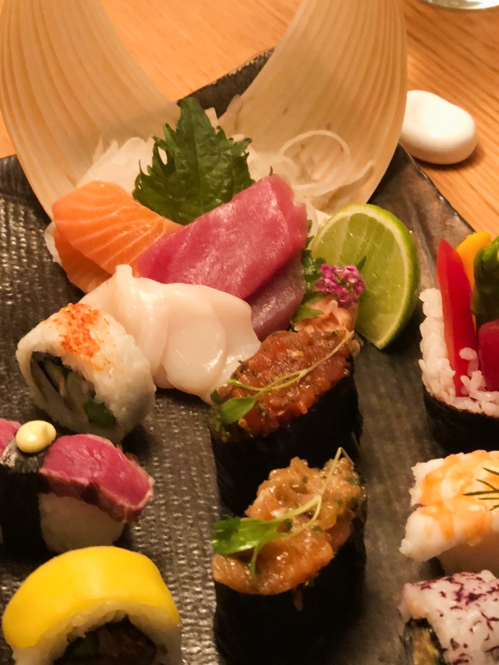 Australasia sushi platter at one of the restaurants in Manchester