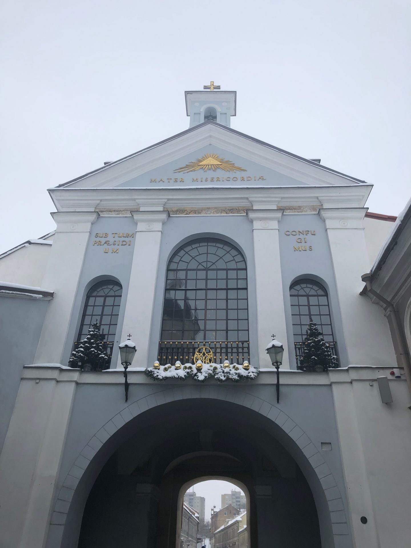 things to do in Vilnius in winter: the gates of dawn