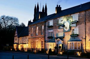 The Black Swan Helmsley Hotel: The exterior of the hotel taken early even in winter