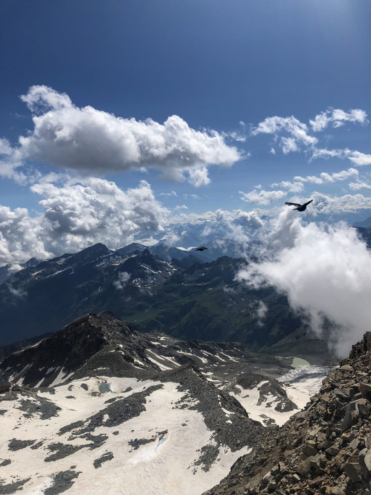 View from the Gnifetti mountain hut