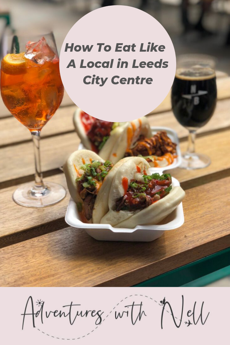 Pinterest Graphic how to eat like a local in leeds city cenre