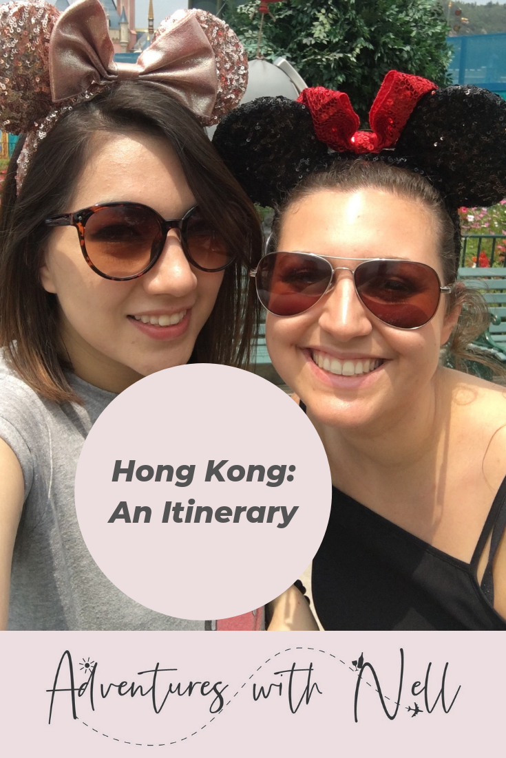 Pinterest Graphic Hong Kong Itinerary