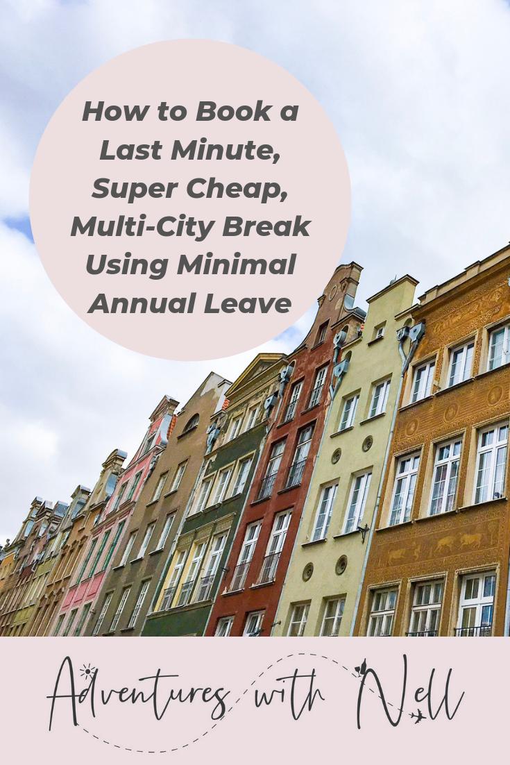 Pinterest graphic for super cheap city break