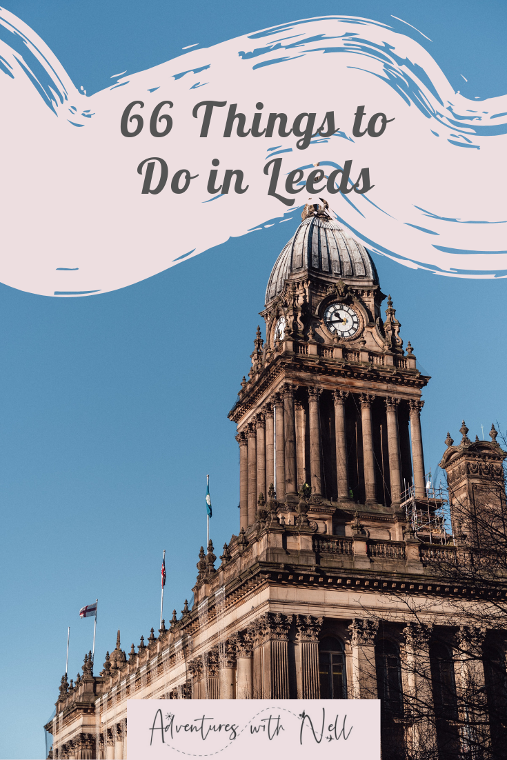 pinterest graphic for things to do in Leeds city centre