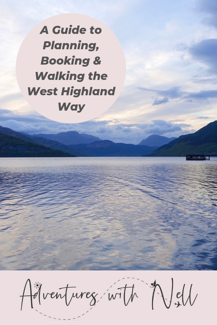 Pinterest graphic for walking the west highland way