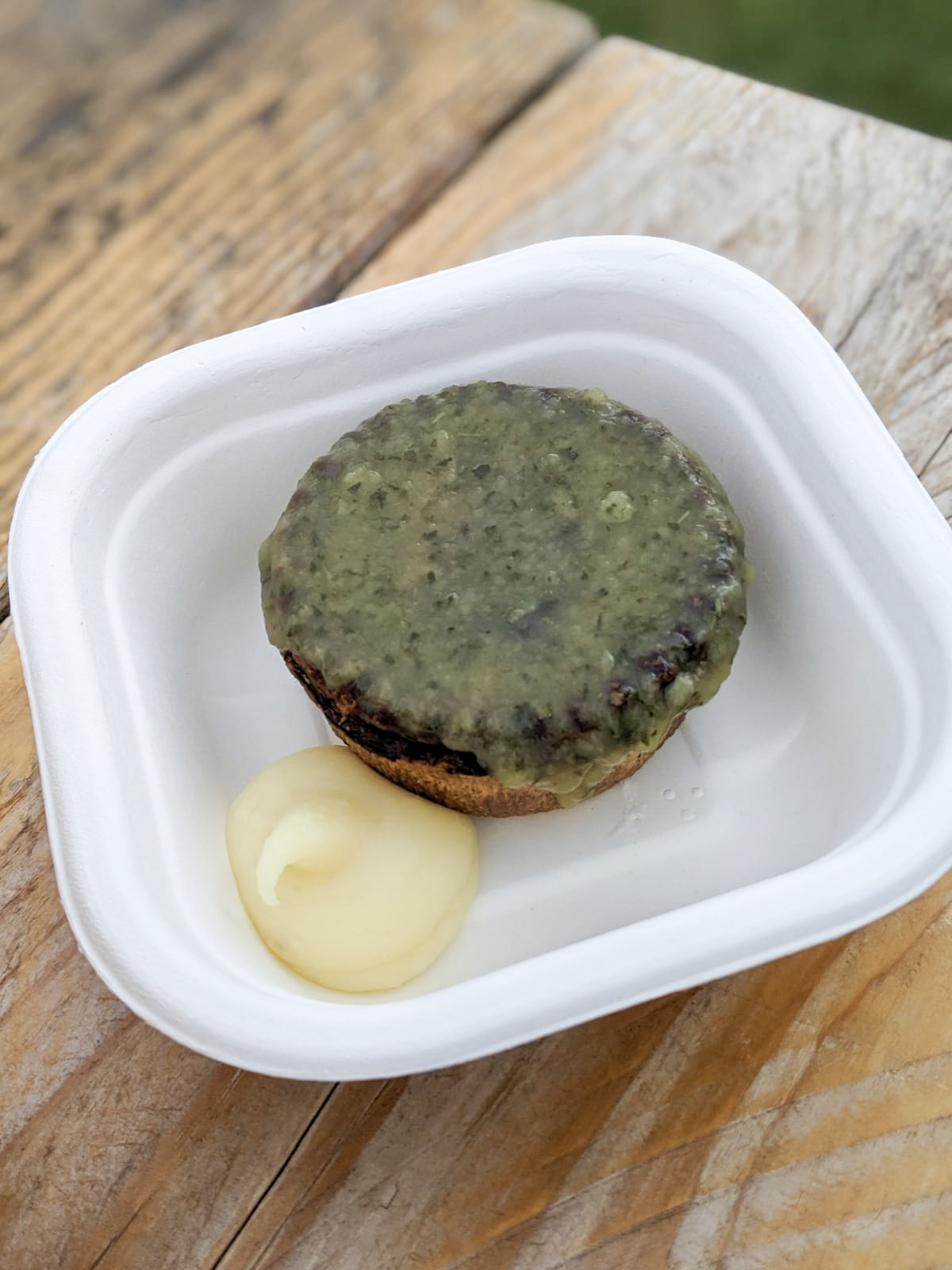 Minted Lamb Pie with mash at Pub in the Park in Rounday 2019