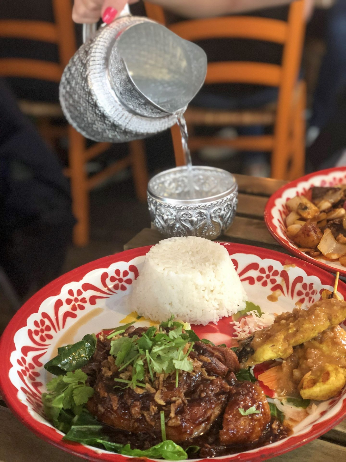 Places to eat in Leeds: a dish of tamarind duck with rice