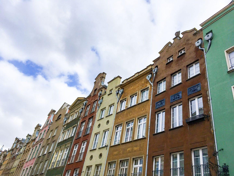 colourful buildings in Gdansk - cheap city breaks