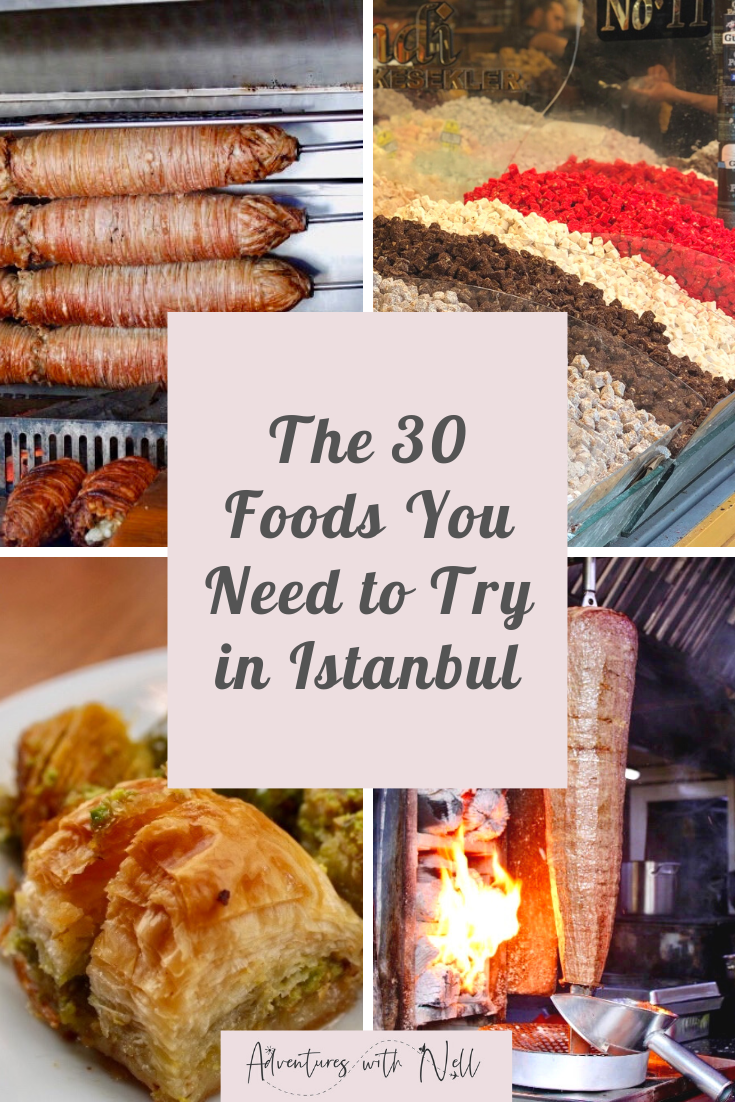 Istanbul is the city of food! There is so much Turkish food to eat, and so many places to eat it, but here's my guide to restaurants, where to eat, desserts, mezze, ishkender kebab, food tour, coffee, donner kebabs, where to eat in, Turkish breakfast, tea, street food.