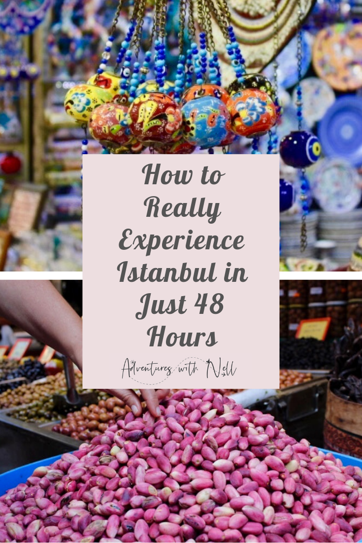 You could spend months in Istanbul and still not have completed all the things to do! Here are some tips to help you experience this city in just 48 hours or a weekend. From the grand bazaar and Turkish markets to the Princes Islands, Blue Mosque and Haiga Sophia, bosphorus cruises, Taksim, Balat and all the food! Travel inspiration, city break, destination guide, Europe, Asia, budget travel, backpacking