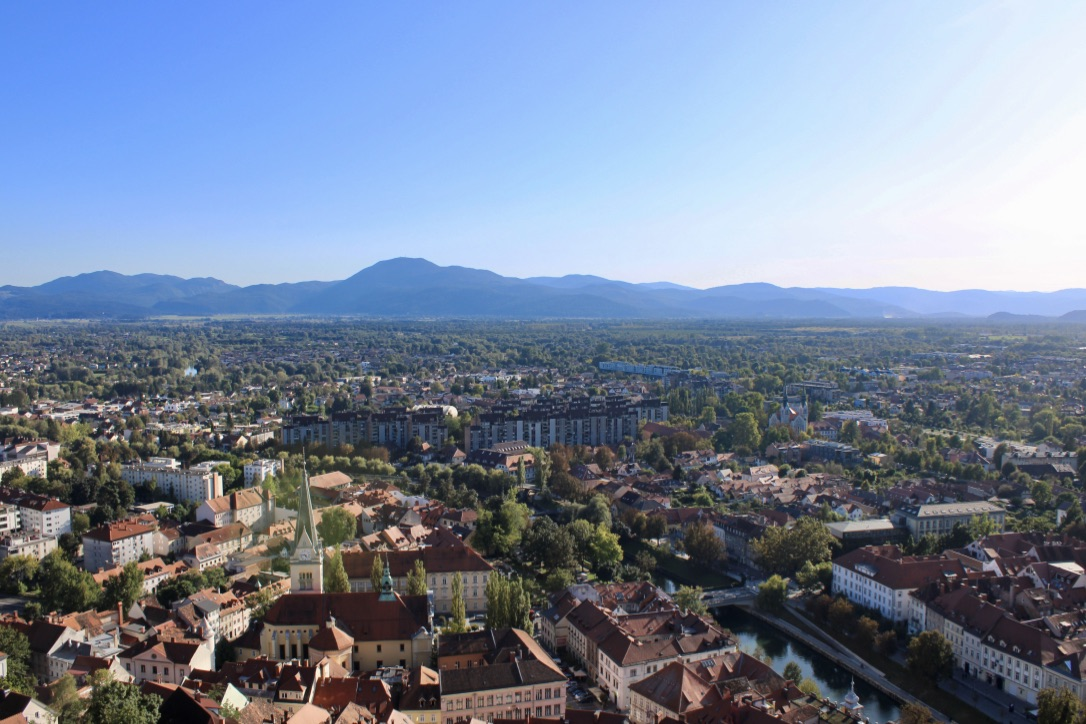 View from the castle tower in Ljubljana if you have 24 hours to spend there