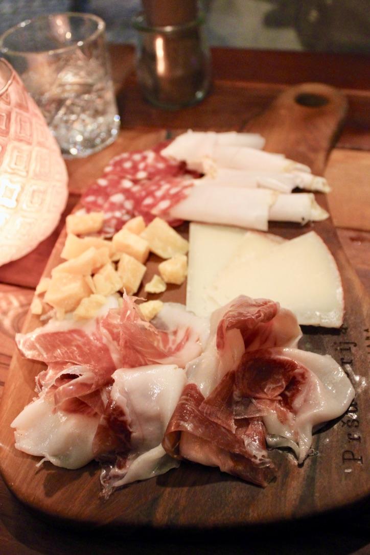 Meat board at Ala Pršuterija in Ljubljana