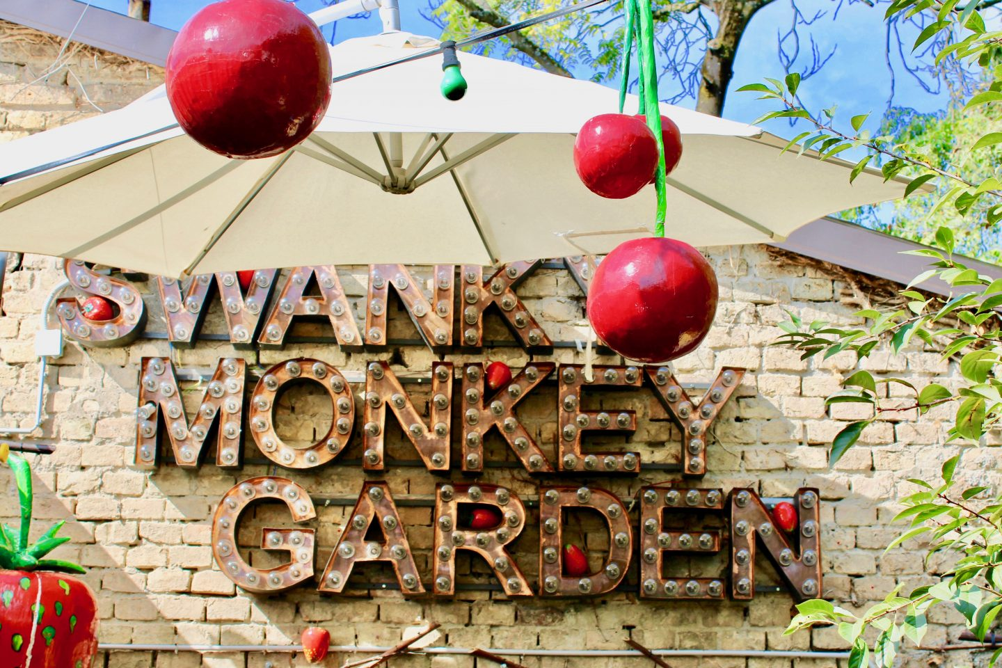 swanky mint hostel zagreb review: Swanky Monkey Garden bar