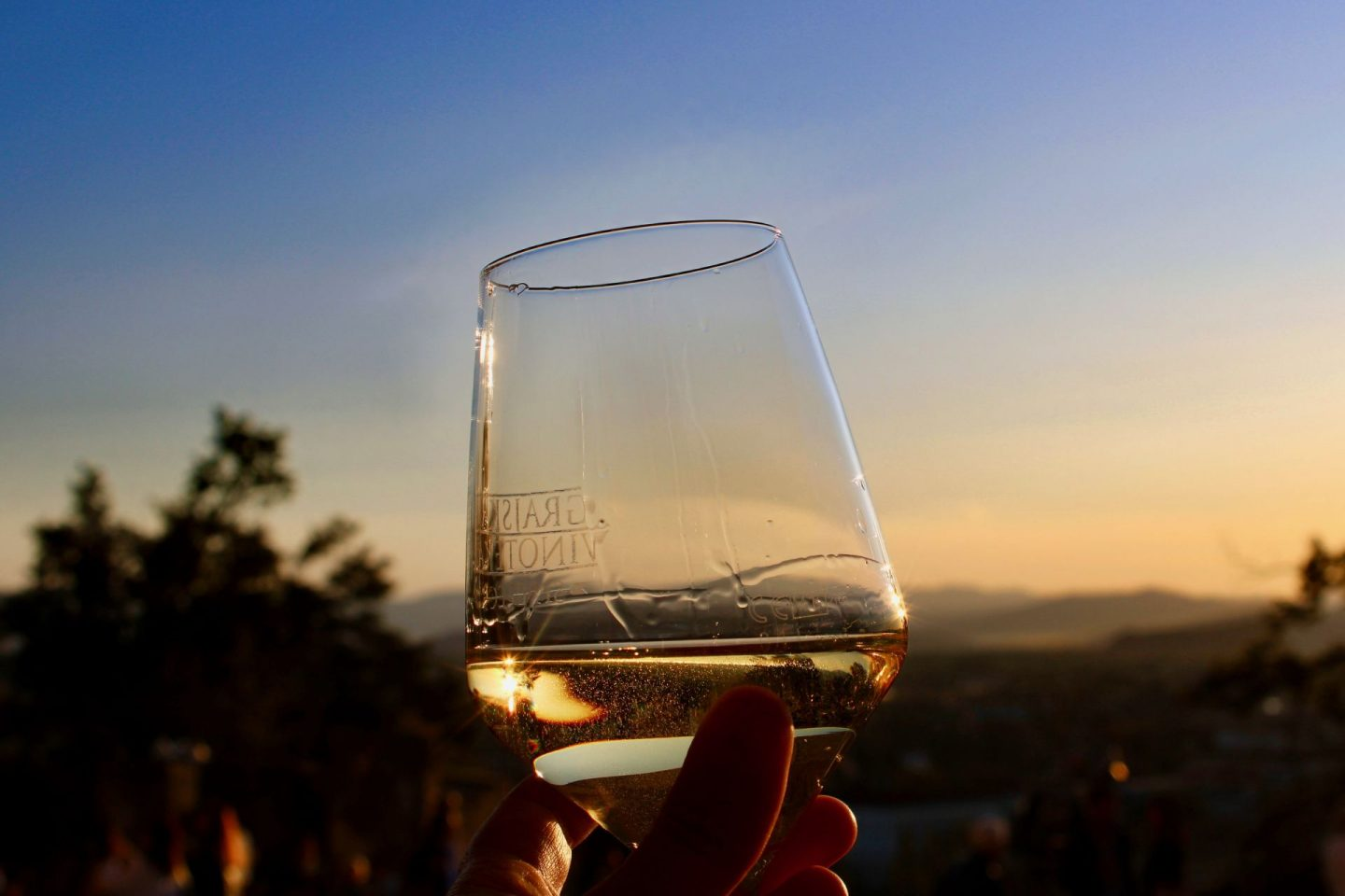 24 hours in Ljubljana food & wine: Sunset over Ljubljana from Strelec wine bar terrace