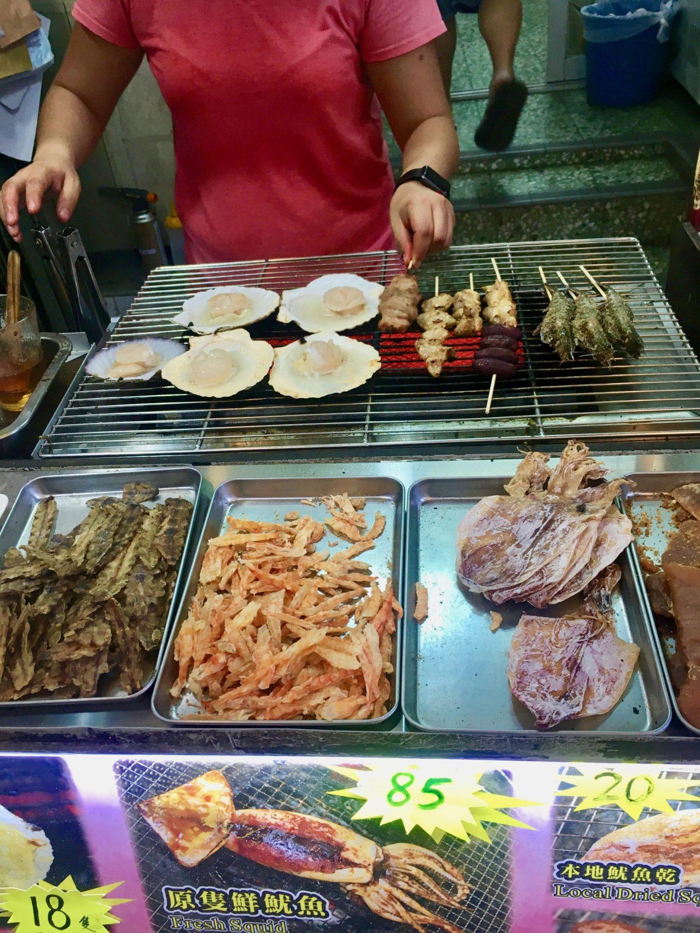A street food stall in Tai O, Hong Kong