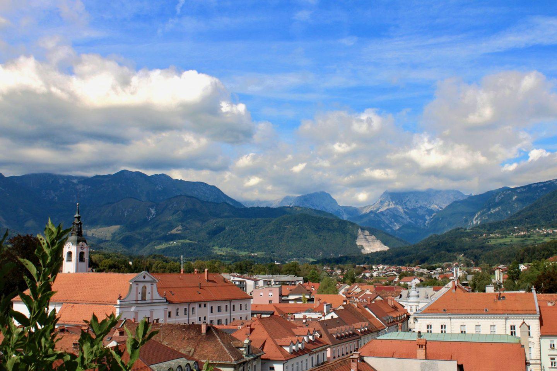 Kamnik and Velika Planina: A view over Kamnik in the Ljubljana region from Mali grad hill