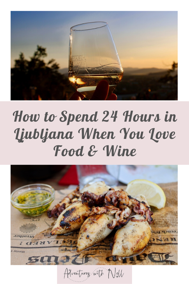 A guide to spending 24 - 48 hours in Ljubljana for foodies and wine lovers, including a food tour, best wine bars, best restaurants and other things to do in the capital of Slovenia. City break, Balkans, Slovenia, Europe, travel inspiration, weekend away, budget travel, foodie travel, where to eat, places to eat, Slovenian food, Europe travel.