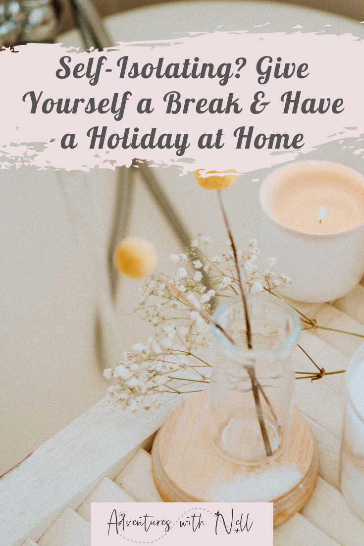 things to do at home when self-isolating pinterest graphic