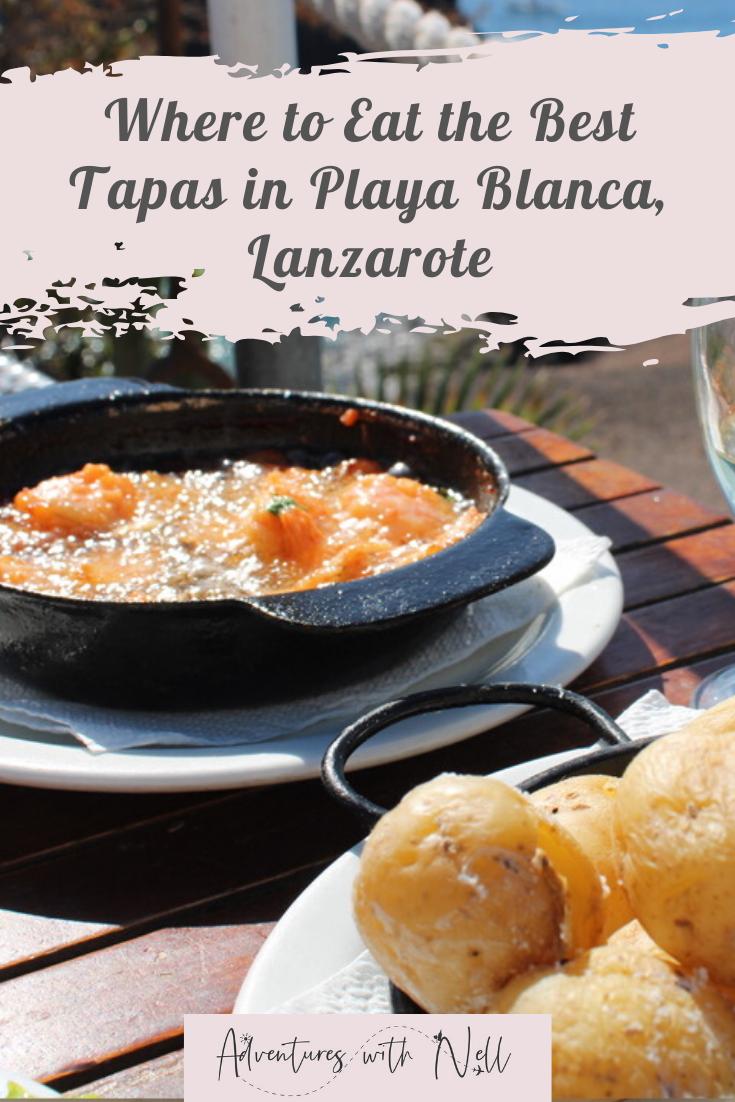 best tapas restaurants playa blanca lanzarote - pinterest graphic