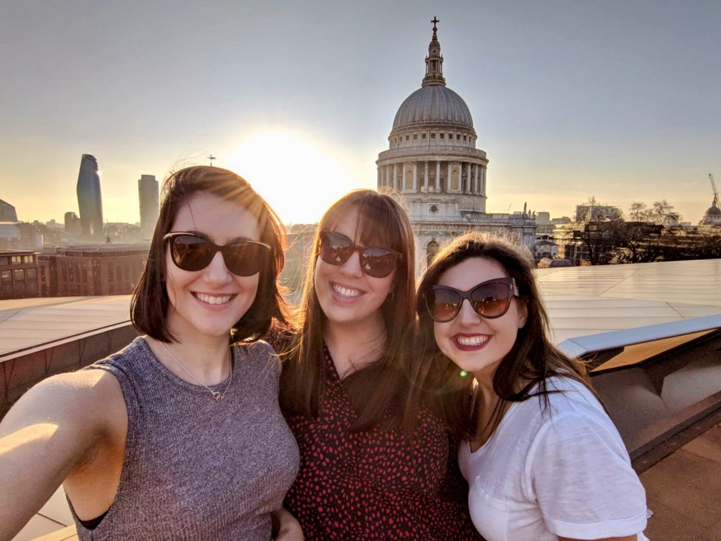 Practising gratitude during coronavirus: nell and two of her friends on a sunny day in London
