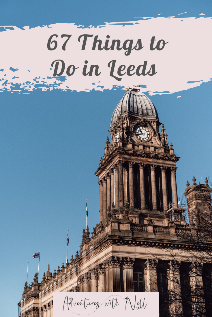 things to do in leeds city centre pinterest graphic