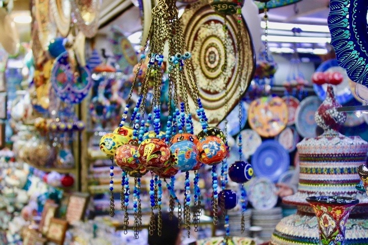 Istanbul to Sofia Night Train: inside Grand Bazaar in Istanbul
