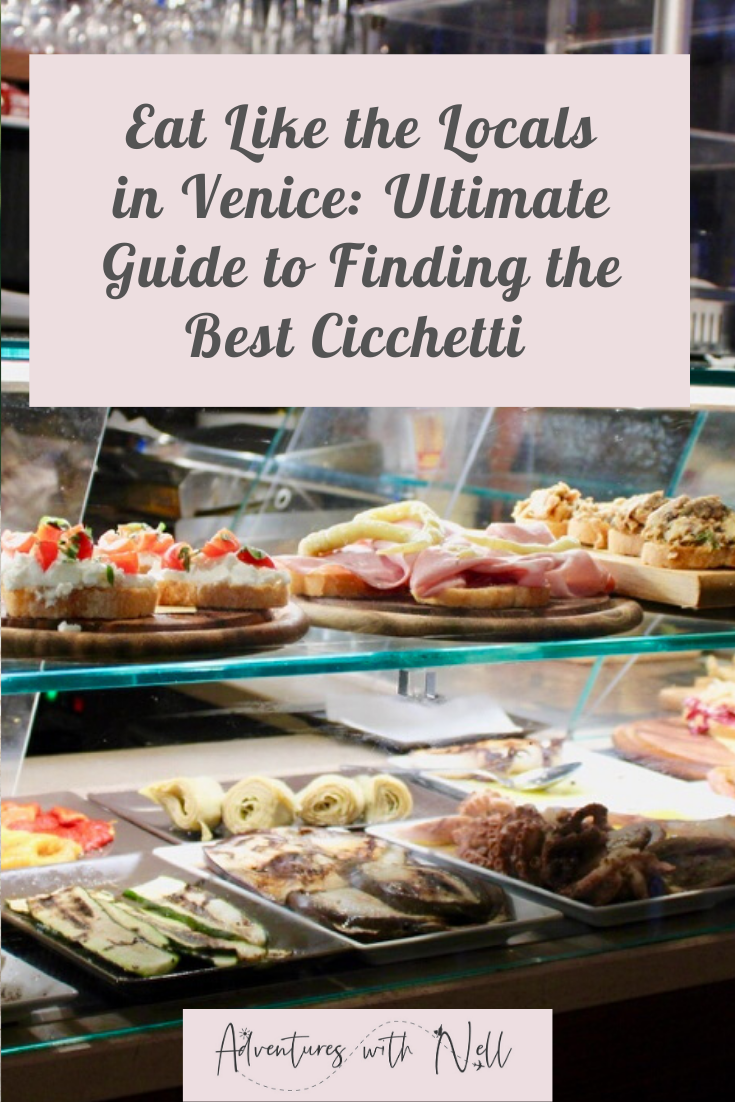 How to eat like the locals in Venice at the best cicchetti bars. Where to eat in Venice, places to eat in Venice, restaurants, cafes, Italy, Europe. Cheap traditional food on a budget in Venice. Destination guide, city guide, city break, travel inspiration, budget travel