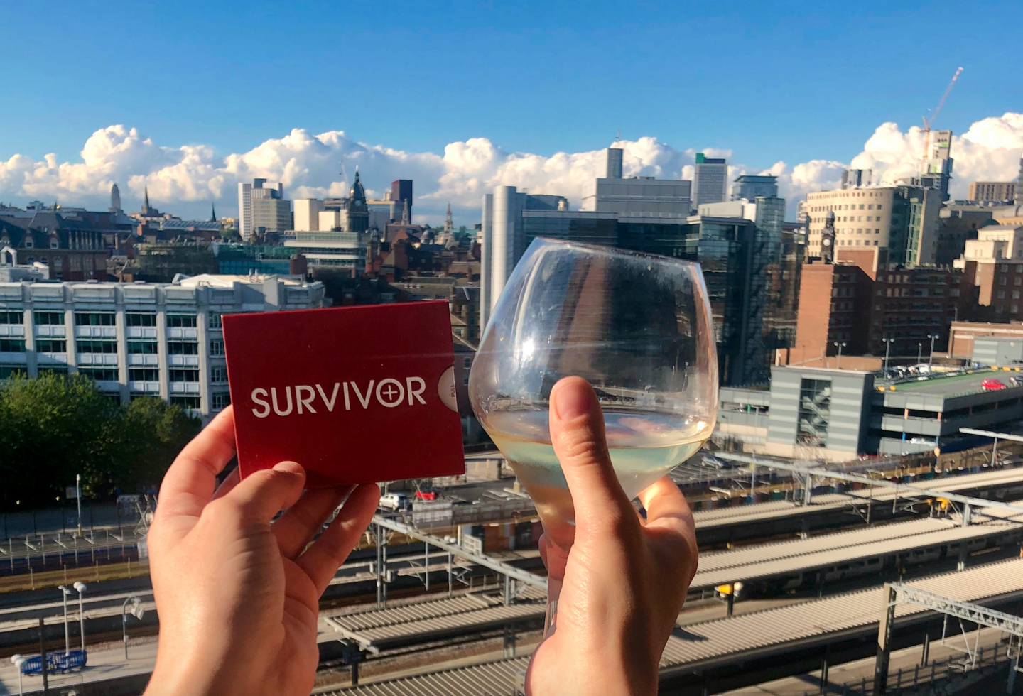 Lockdown wine, where to buy online and what to drink: survivor capsules and white wine taken from my balcony