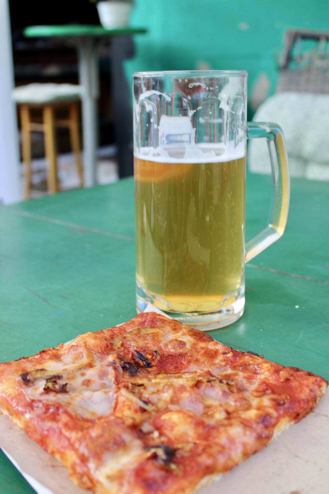 visit belgrade - pizza and beer