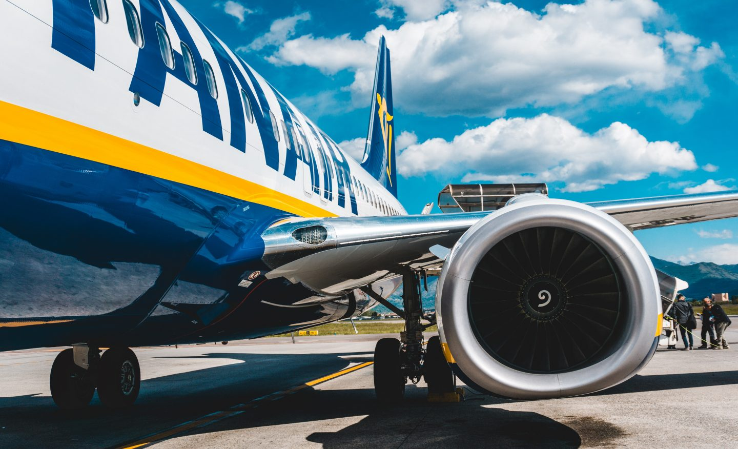 what it's like to travel abroad during the covid-19 pandemic: a Ryanair plane on tarmac